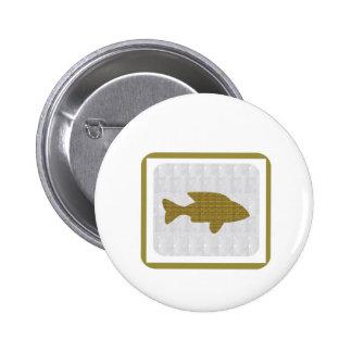 GOLD Fish Pet Aquatic Zoo NVN281 Greetings kids 6 Cm Round Badge