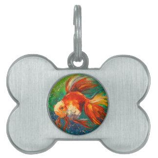 Gold fish pet ID tag