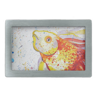 Gold fish rectangular belt buckle