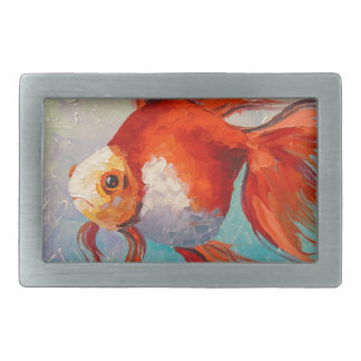 Gold fish rectangular belt buckles