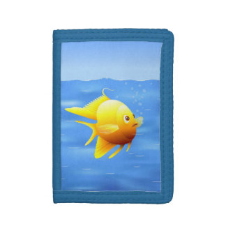 Gold Fish Tri-fold Wallet