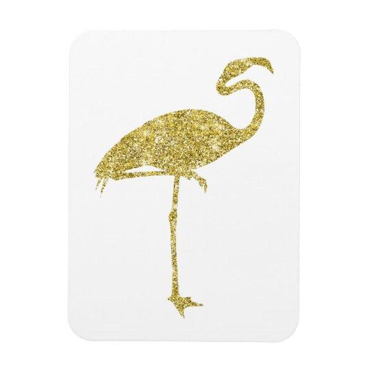 Gold Flamingo Faux Glitter Flamingos Tropical Bird Magnet