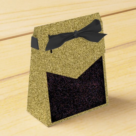 Gold Flecked with Black Speckled Design Favour Box