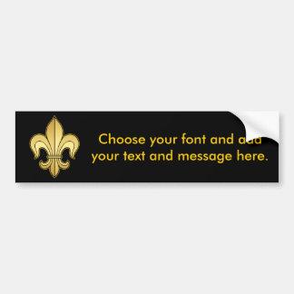 Gold Fleur de lis Bumper Sticker
