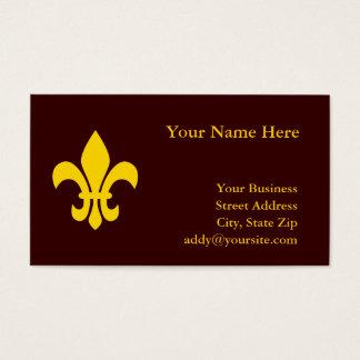 Gold Fleur de Lis Business Card