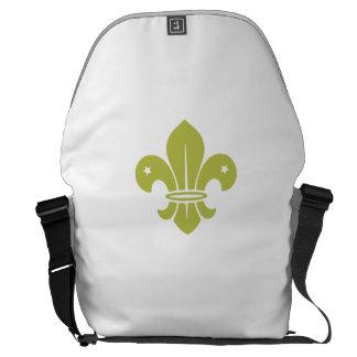 Gold Fleur De Lis Courier Bags