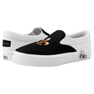 Gold Fleur de Lis- New Orleans Slip-On Shoes
