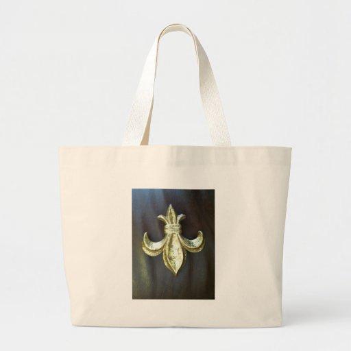Gold  Fleur de lis on Brown Bags