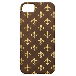 Gold Fleur De Lis on Chocolate French iPhone 5 Covers