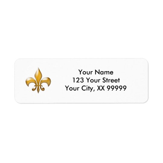 Gold Fleur de Lis Return Address Labels