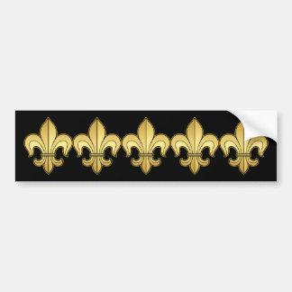 Gold Fleur de lis XXX Dat Car Bumper Sticker