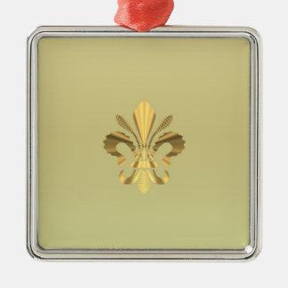 Gold fleur de lys christmas ornament