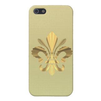 Gold fleur de lys iPhone 5/5S cases