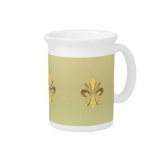 Gold fleur de lys pitcher