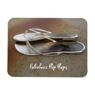 Gold Flip Flops Magnet