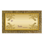 Gold Floral and Purple Placecards