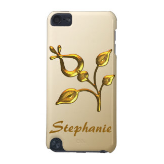 Gold Floral Jewel Personalized iPod Touch (5th Generation) Cover