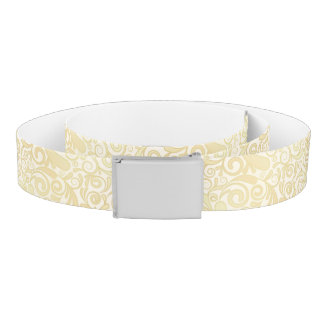Gold floral leaves pattern belt