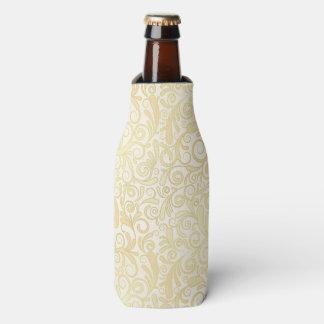 Gold floral leaves pattern bottle cooler