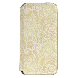 Gold floral leaves pattern incipio watson™ iPhone 6 wallet case