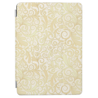 Gold floral leaves pattern iPad air cover