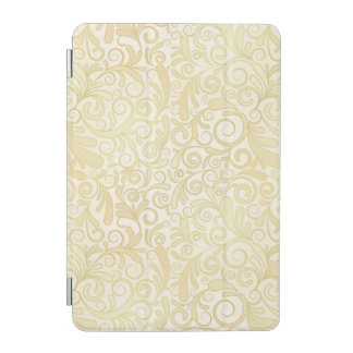 Gold floral leaves pattern iPad mini cover