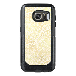 Gold floral leaves pattern OtterBox samsung galaxy s7 case