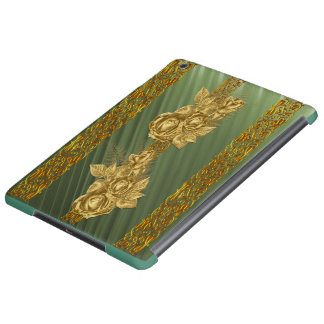 Gold Floral Reaslistic Art Cover For iPad Air