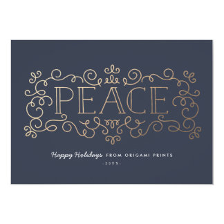 Gold Flourish Corporate Holiday Card