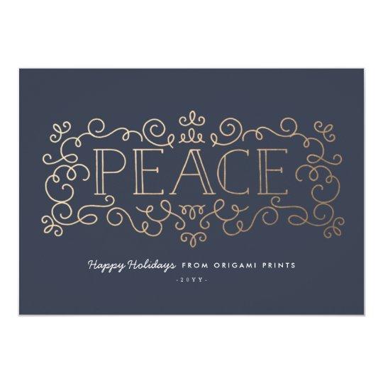 Gold Flourish Corporate Holiday Card