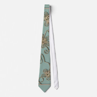 Gold Flourish Mother's Day Tie