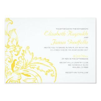 Gold Flourish Wedding Invitations Invitation