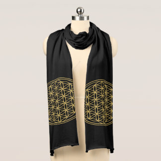 Gold Flower of Life scarf