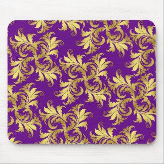 Gold flower ornament mousepad