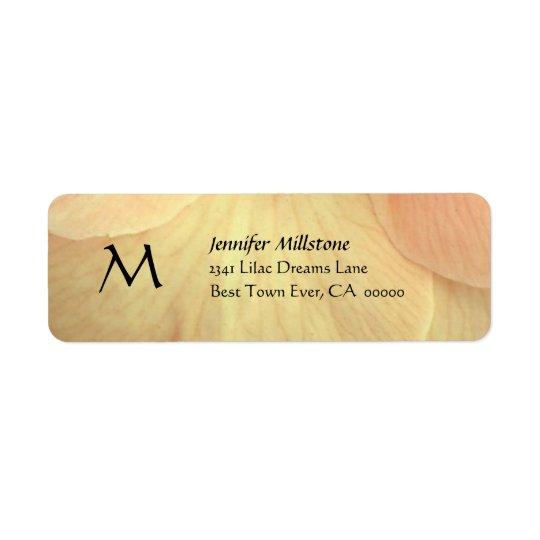 GOLD Flower Petals Wedding Address Label