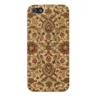 Gold Flowers Arabesque oriental tapastery iPhone 5/5S Case