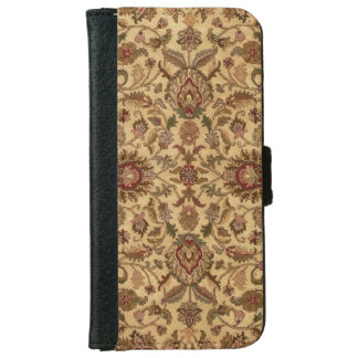 Gold Flowers Arabesque oriental tapastery iPhone 6 Wallet Case