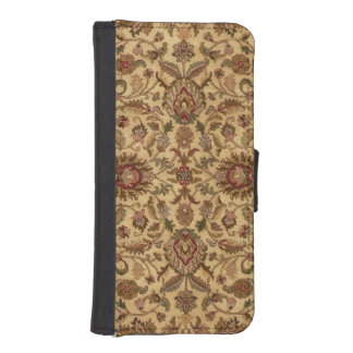Gold Flowers Arabesque oriental tapastery iPhone SE/5/5s Wallet Case