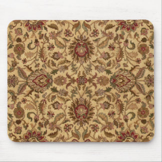 Gold Flowers Arabesque oriental tapastery Mouse Mat