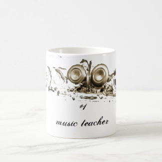 gold flute, #1 music teacher coffee mug