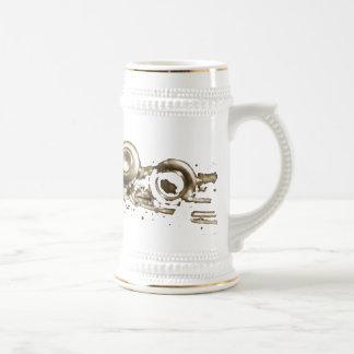 gold flute stien coffee mugs