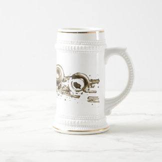 gold flute stien coffee mugs