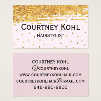 Gold Foil and Triangle Confetti Business Card