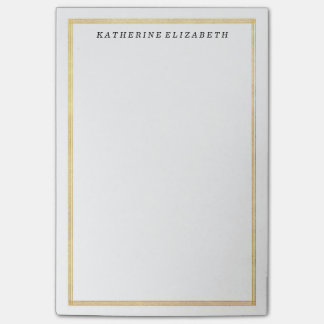 Gold Foil Art Deco Border Personalized Note Pad