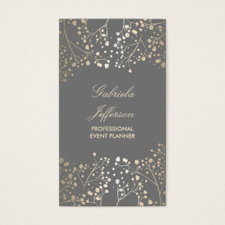 Gold Foil Baby's Breath Chic Business Card