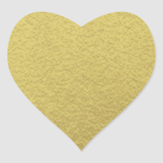 Gold Foil Background Texture Heart Sticker