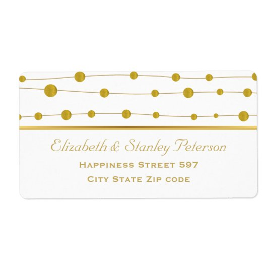 Gold foil beads and stripe modern wedding