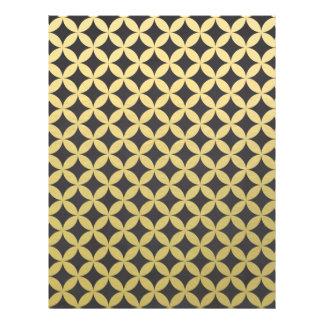 Gold Foil Black Diamond Circle Pattern Flyer