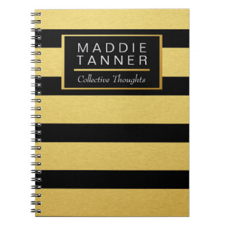 Gold Foil Bold Lines, Professional Notebook