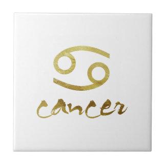 Gold Foil Cancer Symbol Tile